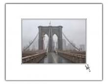 Brooklyn Bridge in the rain photo print