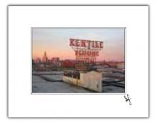 Brooklyn skyline with Kentile Floors sign photo print