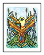 Eagle Vision spiritual art card