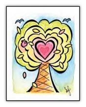 Heart Treat illustrated card