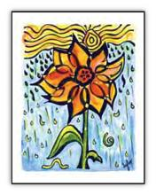 Inch by Inch spiritual art card