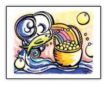 Abundance spiritual art card