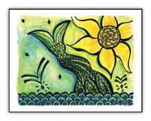 Mermaid spiritual art card