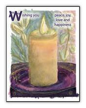 Candle with Words spiritual art card
