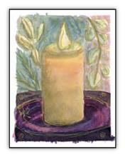 Candle spiritual art card