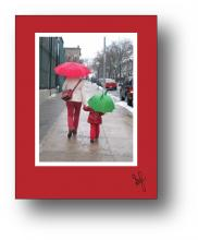 Umbrellas holiday card