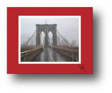 Brooklyn Bridge holiday card