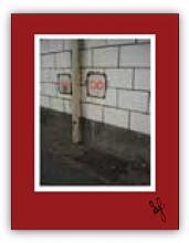 Subway wall markings