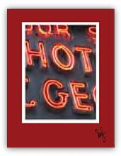 Detail of neon sign