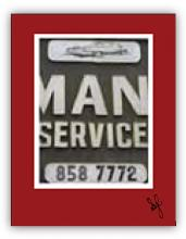 Detail of car service sign