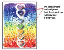 Chakra Hearts spiritual art card
