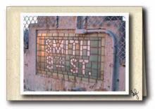 Mosaic at subway entrance