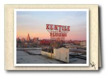 Brooklyn skyline with Kentile Floor sign