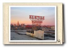 Brooklyn skyline with Kentile Floor sign