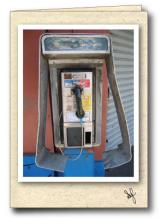 Broken down pay phone