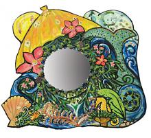 Magic mirror with mermaid imagery